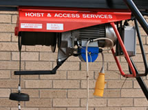 Photo of hoist in use
