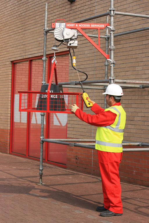 Scaffold Electric Hoist Hoist Amp Access Services Ltd