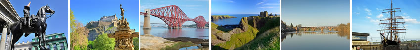 Iconic photos from areas we deliver to including Glasgow, Edinburgh, Aberdeen and Dundee